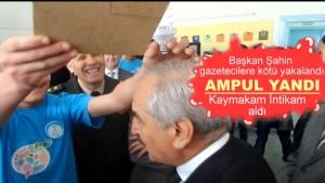 Başkan Kazım Şahin'in Kafada Ampul yaktılar