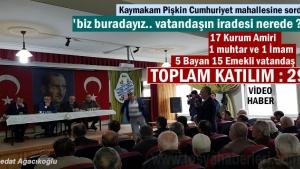 CUMHURİYET MAHALLESİ HALK TOPLANTISI