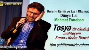 Dünya ve Türkiye 1.'nin Tosya'da okuduğu Kuran-ı Kerim