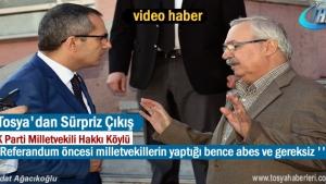 Milletvekili Hakkı Köylü'nün açıklaması
