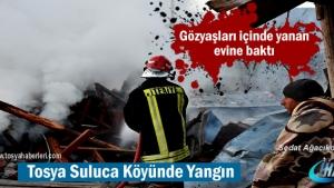 Tosya-Suluca Köyünde Yangın