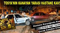 TOSYA'DA TRAFİK KAZASINDA ÇOCUK ÖN CAMDAN YOLA FIRLADI