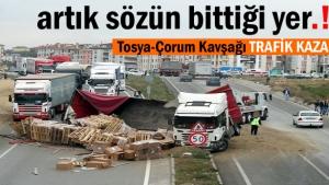 Tosya Trafik Kazasında Faciadan dönüldü