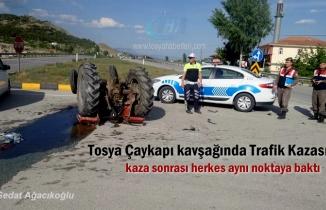 Kastamonu'nun Tosya ilçesinde Çaykapı kavşağında meydana gelen Trafik Kazasında