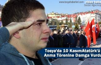 Tosya'da 10 Kasım Atatürk'ü Anma Töreninde Genç vatandaş gözyaşlarını tutamadı