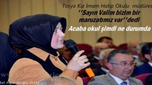 Tosya Kız Anadolu İmam Hatip Lisesi Müdürü Okul Bahçesine çözüm arıyor