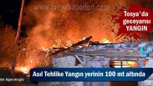 Tosya'da Benzinlik yanında olan 2 Katlı Bağ Evi Yandı