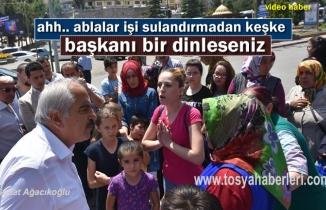 Tosya'da 3 kız çocuk annesinin İsyanı