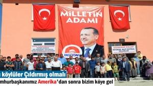 Tosya'da Dağardı Köyü Cumhurbaşkanı Recep Tayyip Erdoğan'ın yolunu gözlüyor