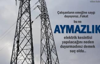 Tosya'da Elektrik Kesintisi