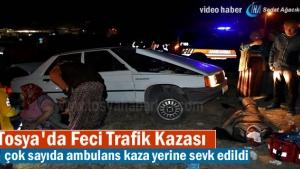 Tosya'da Trafik Kazasında 5 kişi yaralandı