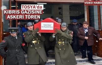 Tosya'da Vefat Eden Kıbrıs Gazisi için Askeri Tören Düzenlendi