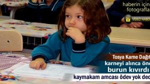 Tosya'da Yarıyıl Tatili Karne dağıtım