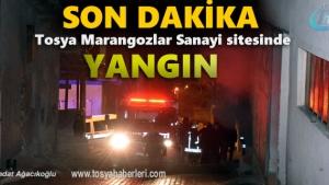 Tosya'da Marangozlar sanayi sitesinde yangın