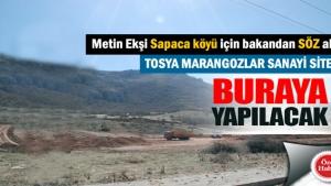 Tosya Marangozlar Sitesi Sapaca Köyüne taşınıyor