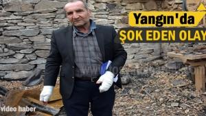 Tosya'da Yangında İşyerini ve annesini alevlere teslim eden vatandaş o geceyi anlattı
