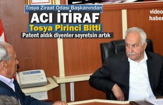 Tosya Ziraat Odası İtiraf Etti '' Böyle Giderse Tosya Pirinci Biter''