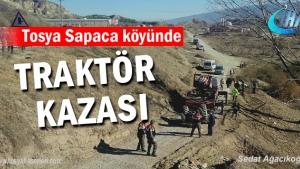 Tosya'da meydana gelen Traktör Kazasında 1 kişi hayatını kaybetti