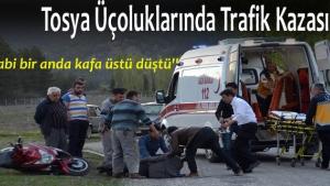 Kastamonu'nun Tosya ilçesi Beş evler mahallesinde meydana gelen trafik kazasında 1 kişi yaralandı.