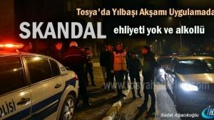 Tosya'da Yılbaşı Akşamı Asayiş ve Trafik Uygulama