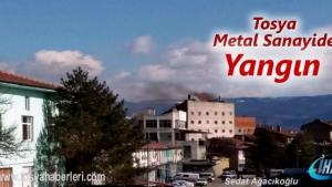 Kastamonu'nun Tosya İlçemiz Metal Sanayi Sitesinde yangın