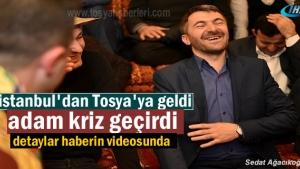 Tosya Ahi Yaren ocağını bu hafta Tosya Belediye Başkanı Kazım Şahin Yaktı