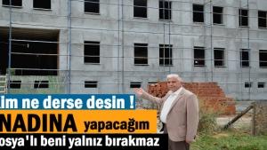 Tosya Meslek Yüksek Okulu İnşaatının yavaşlaması Dernek Başkanını İsyan Ettirdi