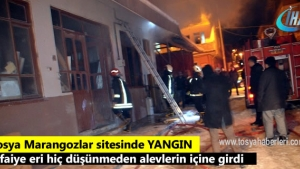 Tosya Marangozlar Sanayi Sitesinde gece yarısı korkutan yangın