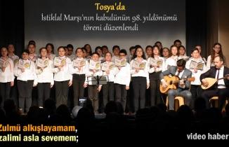 Tosya'da İstiklal Marşı'nın kabulünün 98. yıldönümü ve Milli Şair Mehmet Akif Ersoy'u anma töreni düzenlendi