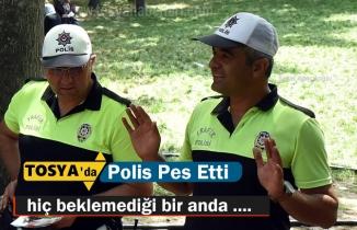 Tosya'da Öğrencinin sorduğu soru Trafik Polisine zor anlar yaşattı