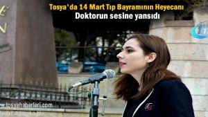 Tosya'da 14 Mart Tıp Bayramı Etkinlikleri Çelenk sunumu ile başladı