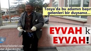 Tosya'da sobayı benzinle söndürmek isteyen vatandaş ölümden döndü