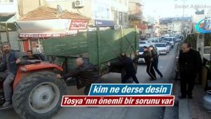 Tosya'da yaşanan şehiriçi Trafik Sorunu