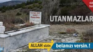 Tosya'da Mezar başında içki içtiler