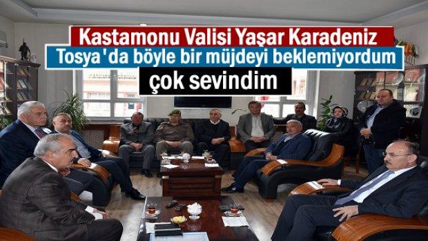 Kastamonu Valisi Tosya ziyaretinde Müjdeli ve sürpriz bir haber aldı