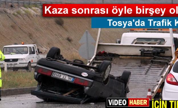 Tosya'da Trafik Kazası 5 Yaralı