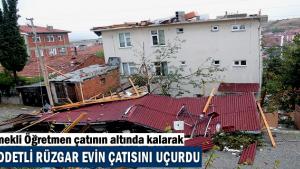 Şiddetli Fırtına'da 1 Kişi Yaralandı