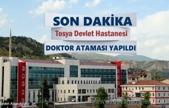 Tosya'ya 3 Adet Uzman Doktor Ataması Yapıldı