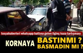 Tosya'da meydana gelen Trafik Kazası sonrası yaşanan tartışma