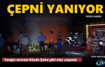 Tosya Çepni Köyünde Çıkan Yangın sonrası Köyde Panik Yaşandı