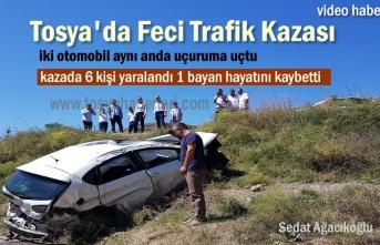 Tosya'da Trafik Kazasında 6 kişi yaralandı 1 kişi Öldü
