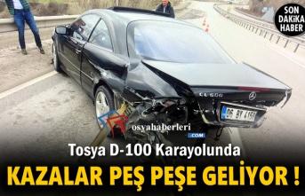Tosya D-100 Karayolunda Kazalar Peş Peşe Geliyor