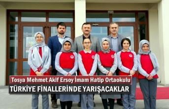 Tosya Mehmet Akif Ersoy İmam Hatip Ortaokulu Türkiye Şampiyonasına Katılıyor