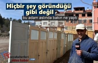 Tosya'da Marangozdan Akla Gelmeyen Bir Çözüm