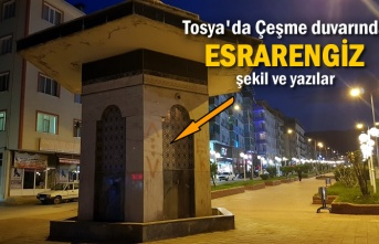 Tosya'da Çeşme Duvarına Yazılan Yazılara Vatandaşlar Tepki Gösterdi