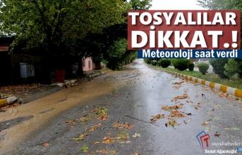 Tosya'da Şiddetli Yağmur ve Dolu Uyarısı