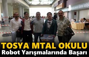 Tosya MTLA Okulundan Robot Yarışmasında Başarı