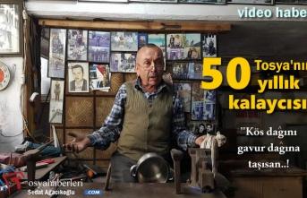 Tosya'da Tenekeci Şakir Mesleğini Anlattı