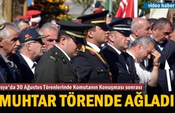 Tosya'da 30 Ağustos Zafer BayramıTörenlerinde Muhtar Ağladı
