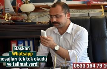 Tosya Belediyesi Whatsapp Hattı Çözüm Üretiyor